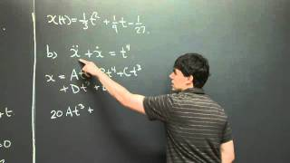 Undetermined Coefficients | MIT 18.03SC Differential Equations, Fall 2011