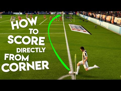 FIFA 18 | How To Score Directly From Corner Kicks Easily ! Tutorial
