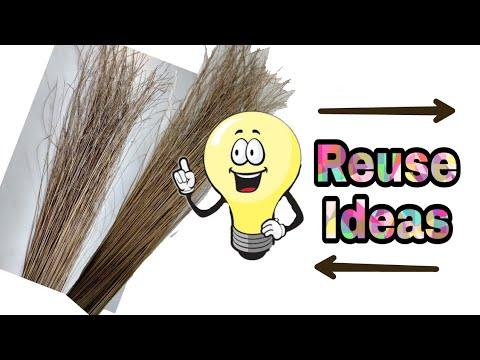 5 creative broom stick craft || Diy home decor with broom stick