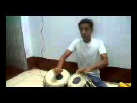 tabla gharana - Shubham Bharti, student of Ustad Ilmas Hussain Khan, Lucknow Gharana. Shubham Bharti 15th year old tabla player.