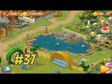 GARDENSCAPES NEW ACRES #37 Gameplay Story Playthrough | Area 8 Stable Area  Day 4 U2013 DailyAnswers.net