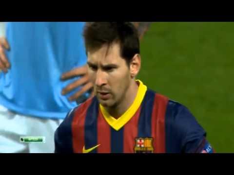 Lionel Messi Goal ~ Manchester City vs FC Barcelona 0 1  Champions League  18 02 2014 HD