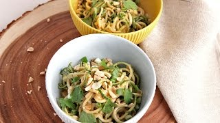 Zoodles with Peanut Sauce | Episode 1051 by Laura in the Kitchen