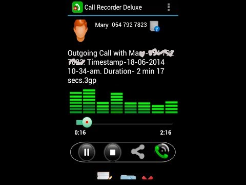 Video of Call Recorder Deluxe Free