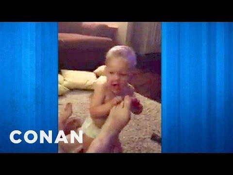 Conan - Sarah Silverman And Coco Corrupt A Baby