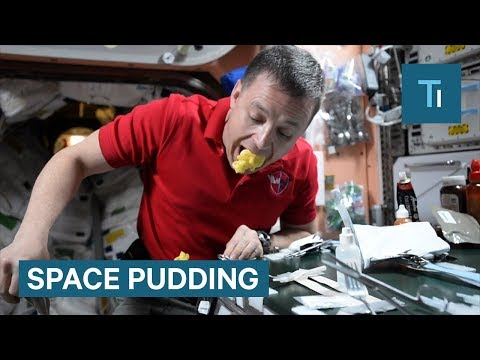 This is the crazy way pudding is served in space