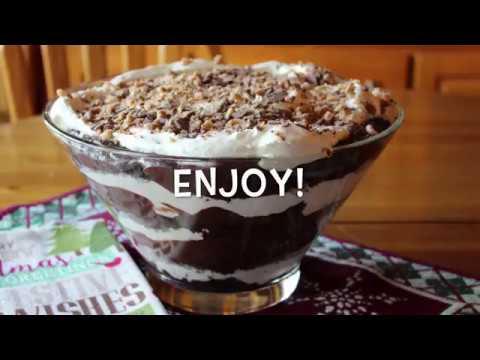 Heath Toffee Chocolate Trifle - TheHotMessKitchen.com