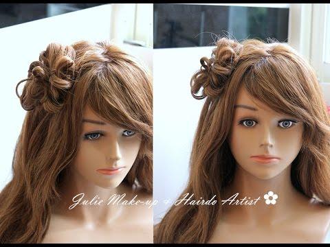 超可愛! 花朵小髮髻 綁髮教學 cute updo hairstyles