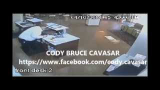 Cody Cavasar Caught On Surveillance Video