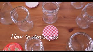 How to sterlise jars