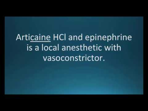How to pronounce articaine epinephrine (Septocaine with epi) (Memorizing Pharmacology Flashcard)