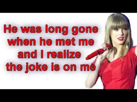 Taylor Swift - I Knew You Were Trouble (Lyrics) Video.