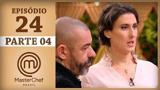 Assista à quarta parte do episódio vinte e quatro de MasterChef Brasil - Temporada 4. Os episódios completos de MasterChef...