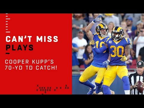Video: Goff Floats a Perfect 70-Yd TD Pass to Kupp!