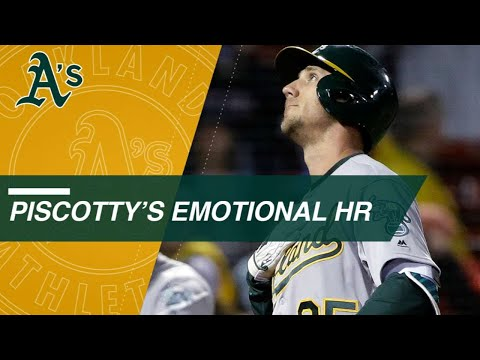 Stephen Piscotty hits an emotional home run in his first at-bat after his mother's passing