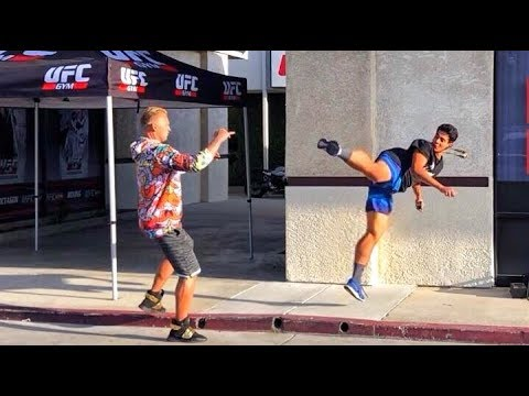 Bumping UFC Fighters Prank 😂