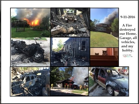 Hobbiest YouTubers house burns down. Everything destroyed.