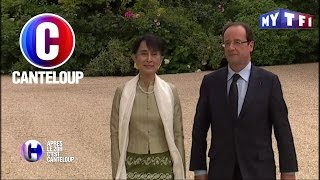 Video C'est Canteloup - François Hollande blague avec Aung San Suu Kyi MP3, 3GP, MP4, WEBM, AVI, FLV Mei 2017
