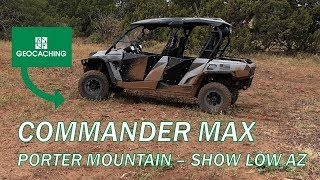 9. CanAm Commander Max at Porter Mountain w/ Geocaching
