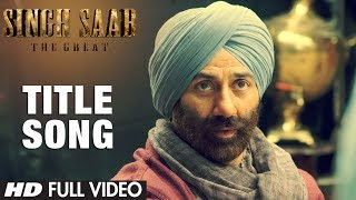 Singh Saab The Great Title Song Full Video | Sunny Deol | Latest Bollywood Movie 2013