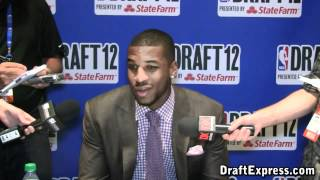 Thomas Robinson 2012 NBA Draft Media Day - DraftExpress