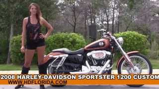 8. Used 2008 Harley Davidson Sportster 1200 Custom Motorcycles for sale