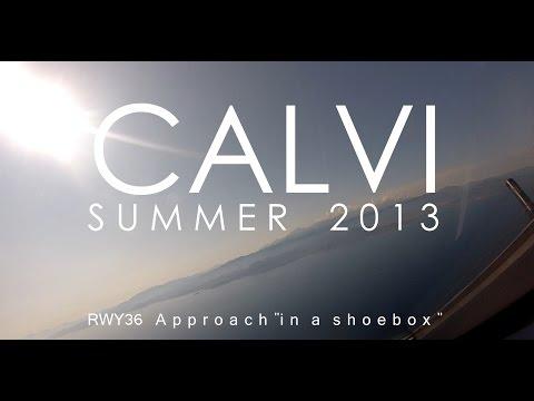 Amazing visual approach in Calvi, Corsica