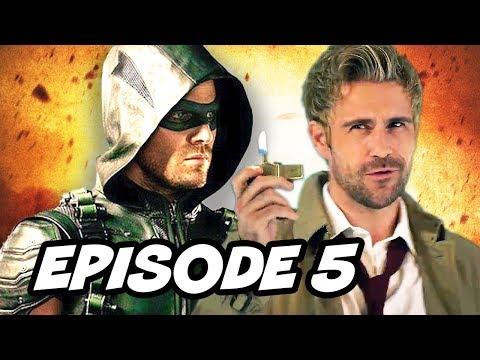 Arrow Season 4 Episode 5 Constantine - TOP 5 WTF and Easter Eggs