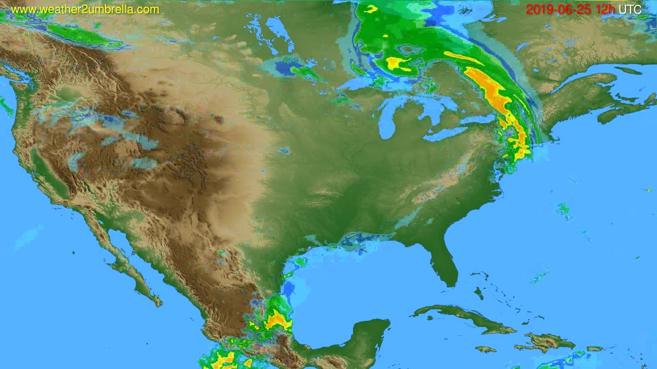 Radar forecast USA & Canada // modelrun: 00h UTC 2019-06-25