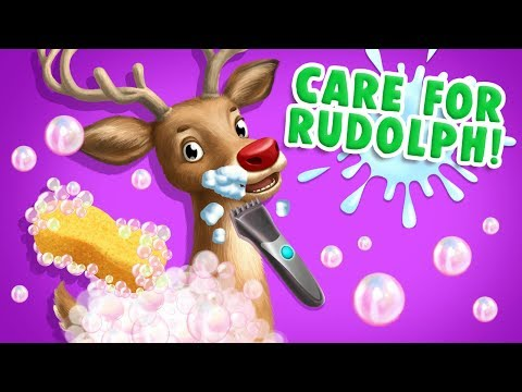 Rudolph's Makeover! Help the Xmas Deer! Christmas Animal Hair Salon 2  TutoTOONS Games for Kids