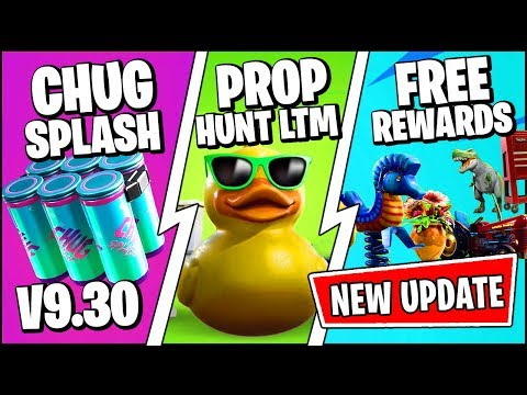 *NEW* Fortnite Update *RIGHT NOW* | CHUG SPLASH, PROP HUNT FREE REWARDS (Patch Notes V9.30)