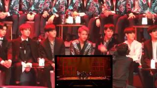 GOT7 full reaction to BTS Intro + Fire @MAMA 2016