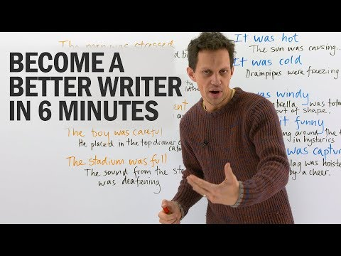 Improve your Writing: Show, Not Tell