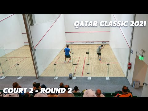 LIVE SQUASH: Qatar Classic 2021 - Rd 2 - Court 2