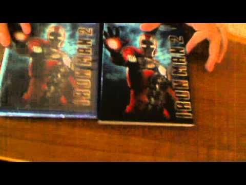 Iron Man 2 3-disc Bluray Unboxing