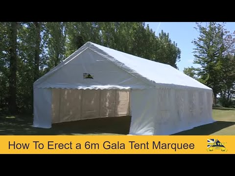 6m Span Gala Tent Garden Marquee PVC (How To Erect Video Guide)