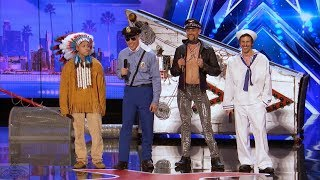 Download Video America's Got Talent 2017 The Quiddlers Hilarious Village People Tribute Full Audition S12E06 MP3 3GP MP4