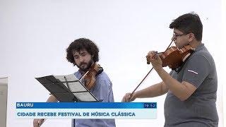 Festival internacional leva música clássica de graça a toda população de Bauru