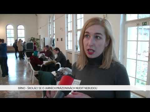 TV Brno 1: 1.2.2018 Školáci se o jarních prázdninách nudit nebudou.