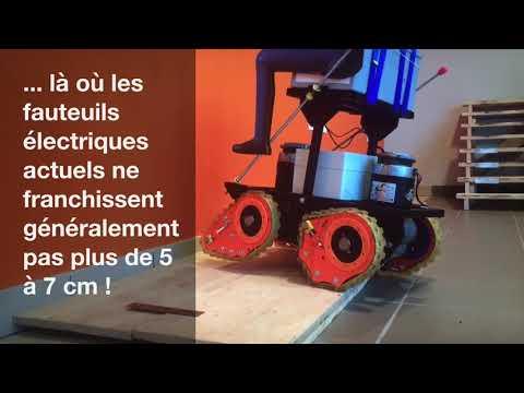 Conception et Réalisation d'un fauteuil roulant électrique pour personnes à mobilité réduite - vidéo
