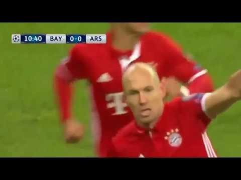 Arjen Robben Goal  Bayern Munich vs Arsenal 1-0