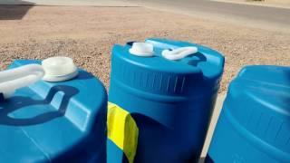 Plastic barrels for water storage