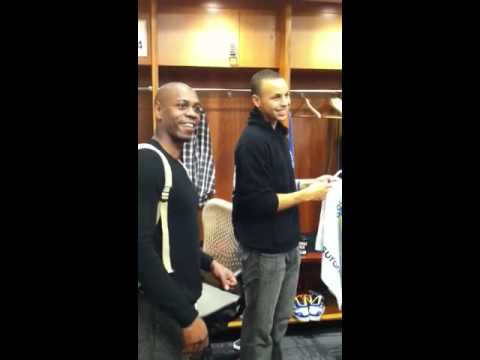 Dave Chappelle in Golden State Warriors Locker Room