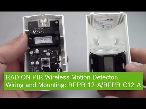 RADION PIR WIRELESS MOTION DETECTOR Wiring and Mounting: RFPR-12-A/RFPR-C12-A