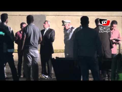 آثار انفجار قنبلة بمحيط قسم الأزبكية