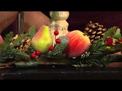 Sugared Fruit Garland by Valerie with Mary Beth Roe