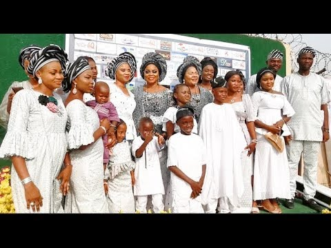 At Last! Meet Actress Yetunde Wunmi Children As She Snap With Them At Her 60th Birthday Party