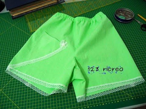 Pantaloni corti con elastico -  parte 1°