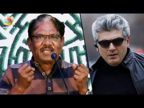 He commands respect even WITHOUT coming onstage : Bharathiraja Speech   Kurangu Bommai Movie