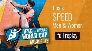 (LIVE) IFSC Climbing World Cup Arco 2016 - Speed - Finals - Men/Women by International Federation of Sport Climbing